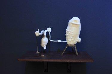 Modell eines Geburtsraumes, 2010, Kunststoff ( 3D Druck), 19 x 10 x 10 cm