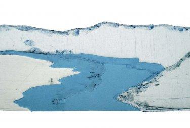 Delaware IV, 2008, Radierung, Hochdruck, Detail