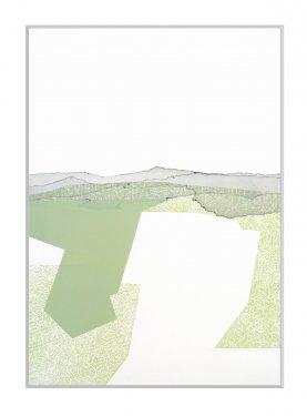 Gemarkung III, 2010, Radierung, Hochdruck, 80 x 60 cm