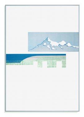 Inshore I, 2012, Radierung, Hochdruck, 100 x 70 cm