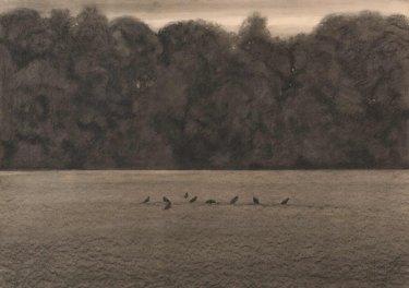 Ohne Titel, 2011, Kreide auf Papier, fixiert