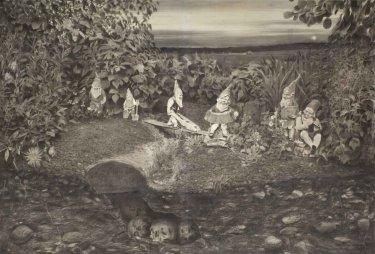 Ohne Titel, 2011, Kreide auf Papier, fixiert, 194 x 284 cm
