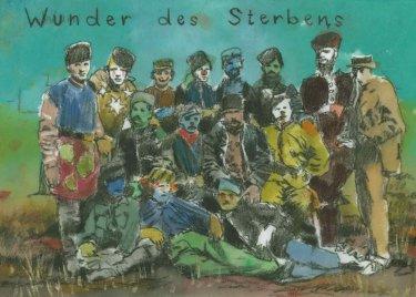 ohne Titel, 2013, Aquarell, 21 x 29,7 cm,  Original für ein geplantes Künstlerbuch