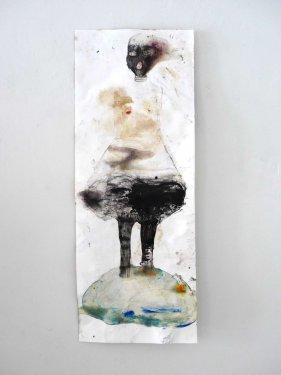 untitled, 2013, Mixed Media on Paper, 55 x 21 cm