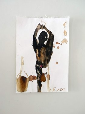 untitled, 2013, Mixed Media on Paper, 43 x 38 cm