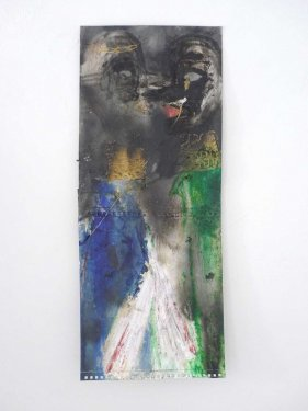 untitled, 2013, Mixed Media on Paper, 58,5 x 24 cm
