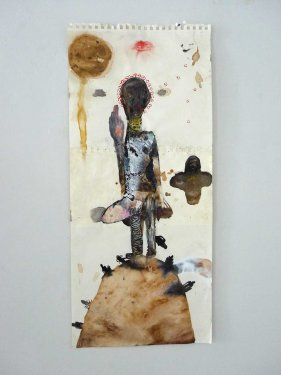 untitled, 2013, Mixed Media on Paper, 67,5 x 29,5 cm