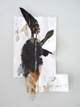 untitled, 2012, Mixed Media on Paper, 68 x 38 cm