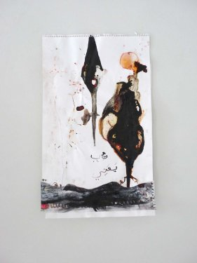 untitled, 2012, Mixed Media on Paper, 51 x  31 cm