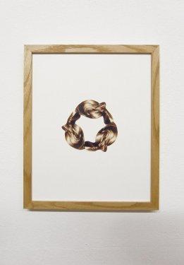 Alle guten Dinge sind drei, 2011, Collage, 32 x 24 cm
