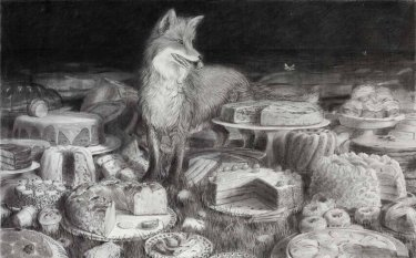 Ohne Titel, 2007, Kreide auf Papier, 96,5 x 151 cm Sammlung Rusche