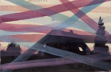 Ohne Titel, 2007, Tusche und Guache auf Papier, 21 x 30,5 cm