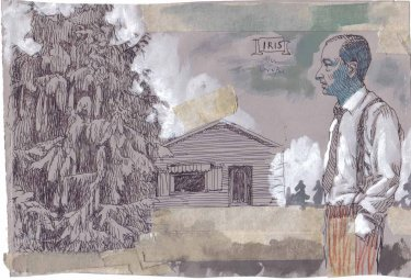 Ohne Titel, 2004, Mischtechnik auf Papier, 18,6 x 27,2 cm