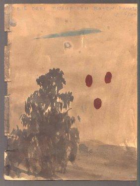 Ohne Titel, 2009, Mischtechnik auf Papier, 20,5 x 15,5 cm