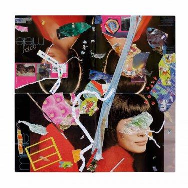 BU, 2008, Collage, Pappe, Papier, Plastik, Kupfer, 60 x 60 cm
