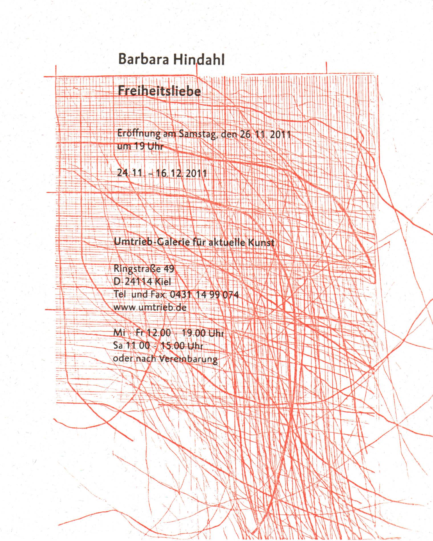 Barbara Hindahl, Einladungsmotiv