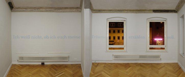 Elsbeth Arlt, Schriftbilder, Ausstellungsansicht